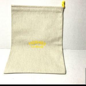 Hermes Le Bain Dust bag chevron beige print